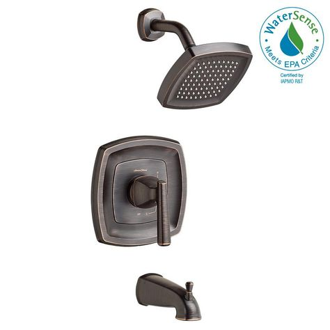 American Standard Edgemere 1 8 Gpm 1 Handle Tub And Shower Faucet