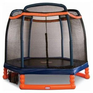 Little Tikes 7′ First Trampoline-Little Tikes has designed this trampoline for toddlers preschoolers and elementary school children. The large 7-foot bouncing area is durable and has just the right amount of bounce. The netting on all sides helps keep children safe and the padded frame provides extra protection.Features:  Durable high-quality.Designed for home outdoor use only.Shoe holder attached to the unit.Price $228.58 (FREE SHIPPING) MORE INFO…