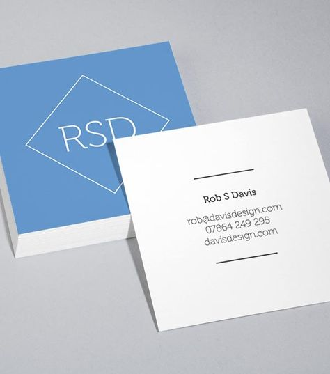 Browse Square Business Card Design Templates | MOO (United Kingdom)