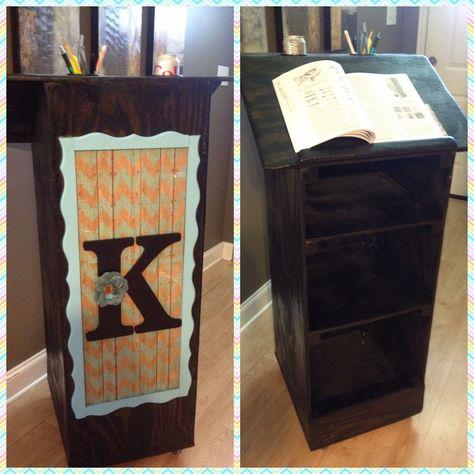 Hand-crafted custom teacher podium. Made with love ❤️