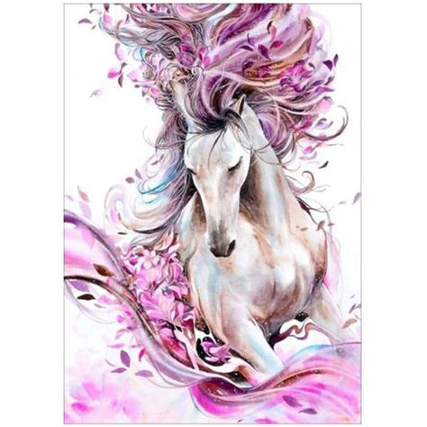 Colorful Horse 5D Diamond Painting DIY Embroidery Cross Stitch Craft Wolf Flower Needlework Kits Wall Pictures Home Decor