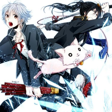 Sorry for the long wait. Isana Yashiro, Yatogami Kuroh and I can't remember the ...