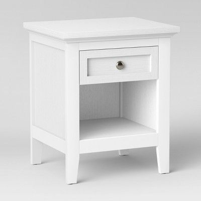 carson end table white threshold tables with drawers storage spaces minnie mouse baby room