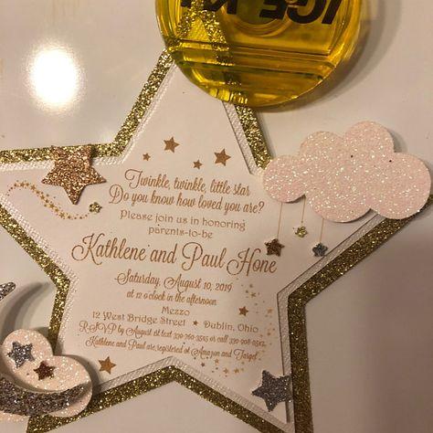 Twinkle twinkle pequeña estrella baby shower invitaciones   Etsy