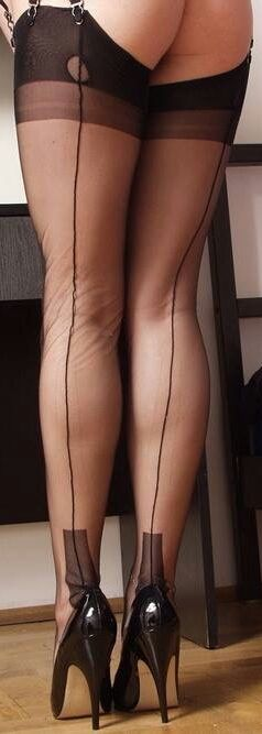 Wife In Seamed Stockings