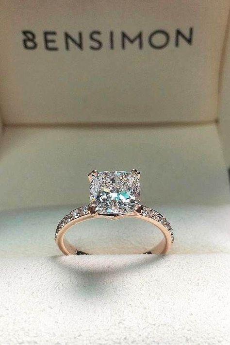 Ladies 1.4ct Princess Cut Clear /& Rose Stones Le Chocolat  Wedding Ring Set