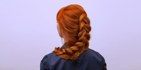 How to French braid hair your hair or someone else's