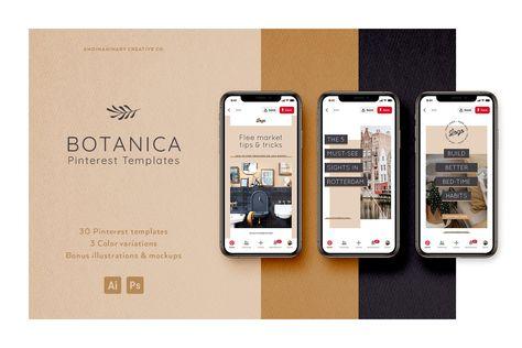 BOTANICA 30 Pinterest Templates