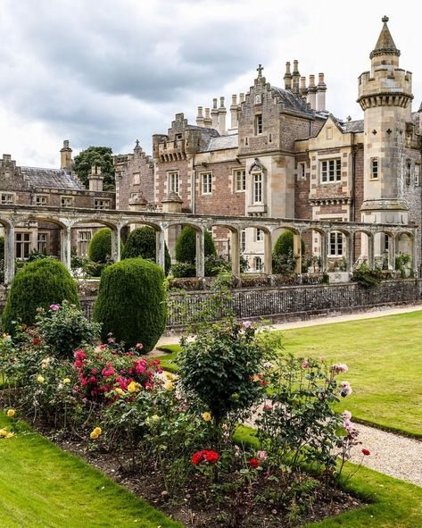 The beautiful Abbotsford House and its gardens, Scottish Borders, Scotland