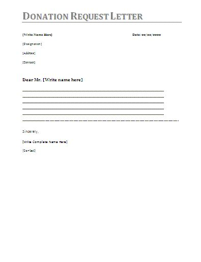 donation letter template items include letters asking for - sample donation request form