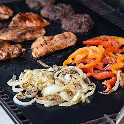 Heavy Duty Non Stick Bbq Grill Mats Set Of 2 Barbecue Grill