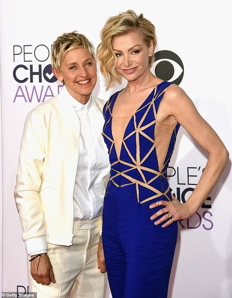 No one 'does sympathetic' or understands pain like Ellen DeGeneres (left with her wife, ac...