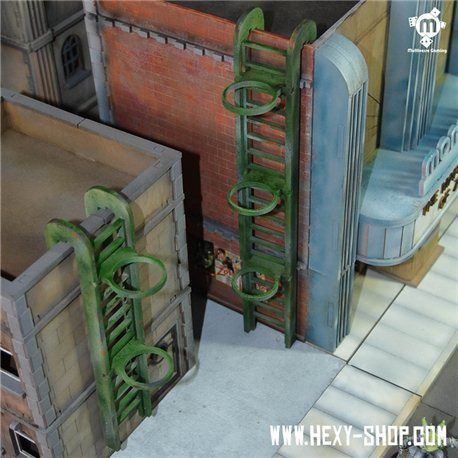 Rooftop Ladders X4 Rooftop Ladder Miniatures