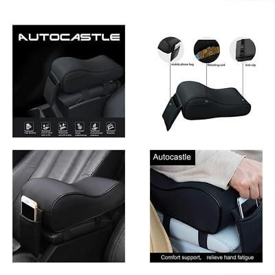 1 Piece EASY EAGLE Car Neck Pillow in Suede Fabric and Memory Foam Headrest Cushion for Car Seat Black