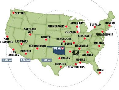 USA Main Cities Tulsa Maps Pinterest Tulsa Oklahoma - Oklahoma map us