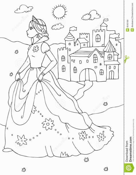 Princess Castle Coloring Page Castle Coloring Page Princess Coloring Pages Free Coloring Pages