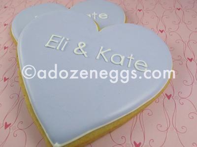 Wedding/Engagement Cookies from ADozenEggs