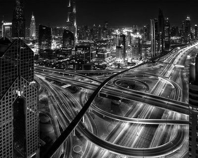The Intersection At Night By Phillipminnis