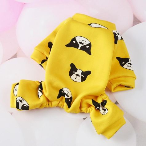 Comfortable Cute Avocado Dog Jumpsuit Leisure Overalls For Dogs Warm Fleece Jumpsuit For Small Dogs Chihuahua Winter Pet Costume - Yellowthicken / XXL