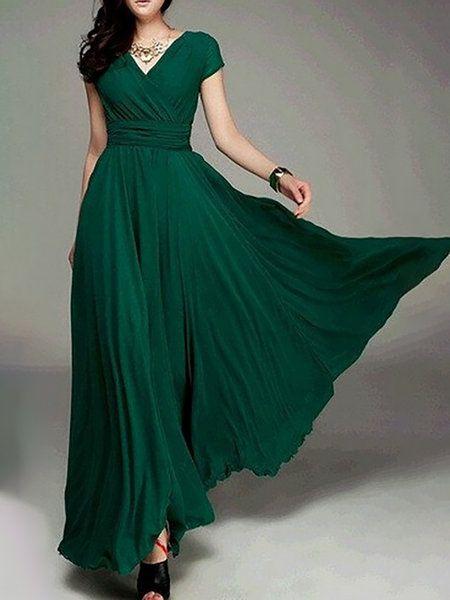 Swing Damen drapiertes Maxi-Kleid