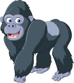 Cartoon Silverback Gorilla Baby Animal Drawings Animal Coloring Pages Cartoon Clip Art