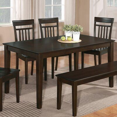 10 Awesome Tesco Kitchen Bar Stools Charlton Home Smyrna Solid Wood Dining Table Color Cappuc Kitchen Table Bench Solid Wood Dining Table Dining Chairs