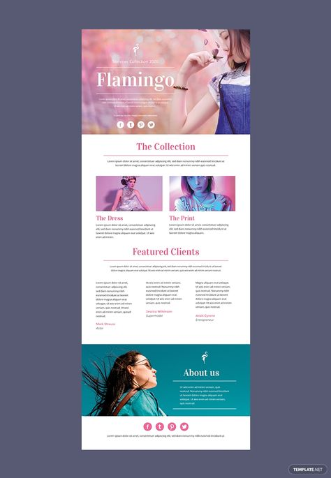 Fashion Email Newsletter Template - PSD   HTML5   Outlook