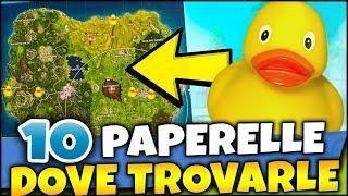 Dove Trovare Tutte Le 10 Paperelle Di Gomma Su Fortnite Ita Vittoria Reale Fortnite Rubber Duck