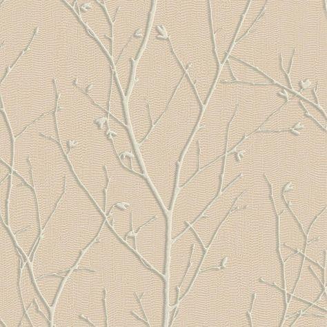 Graham Brown Evita Water Silk Sprig Rose Gold Wallpaper Sample
