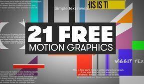 21 Free Motion Graphics Templates For Adobe Premiere Pro Motiongraphic Want To Add Some Motion Graphics To Your Videos Wit Edicao De Video Tutoriais Edicoes