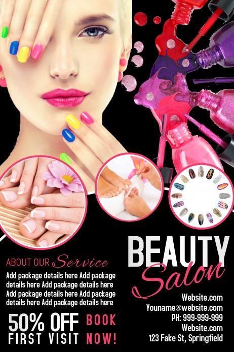 200 nail salon customizable design