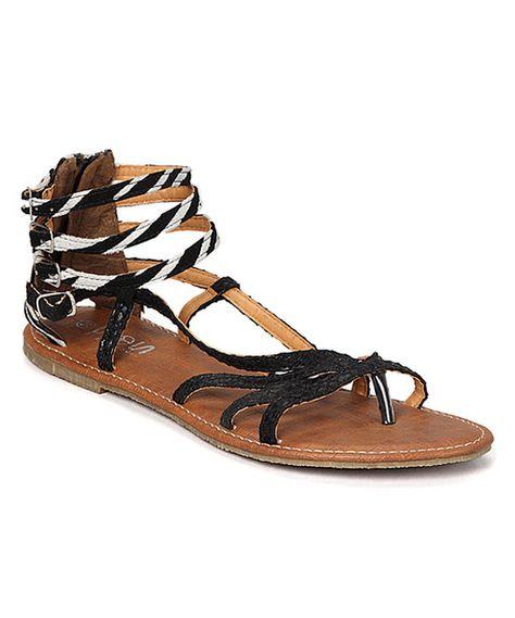 ef47a56da589 Look what I found on  zulily! Black Mason Gladiator Sandal by Bamboo ...