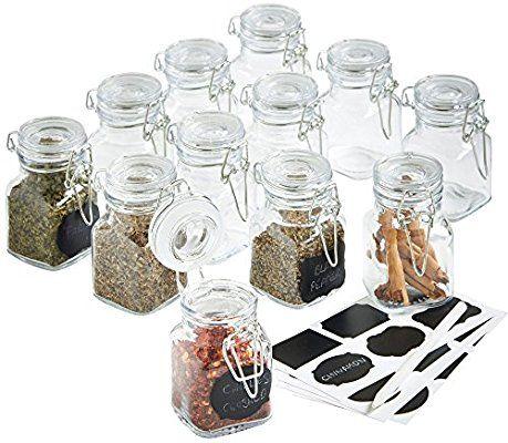 3 x Mini Clip Top Jar Mini Preserve Jars Clip Top Seal Small Spice Jars Herbs