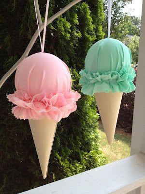 Custom Tulle Ice Cream Garland-Choose your flavors!