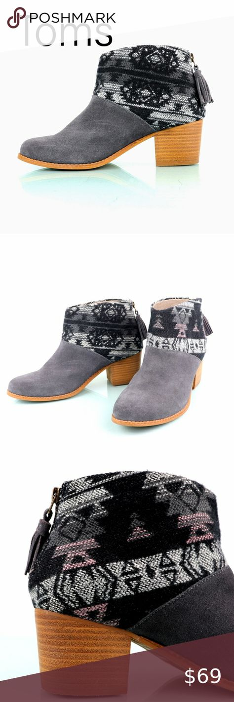 Toms Shoes 80% OFF!> Toms | Leila Jacquard Gray Suede Aztec Boots These Toms Leila boots are in fantastic condition. They have very minimal noticable wear with a beautiful Aztec style. If you are looking for a versatile boot that will separate you from everyone else this is the shoe for you. Get it while it lasts! Toms Shoes Heeled Boots #Toms #Tomsshoes #shoes #style #Accessories #shopping #styles #outfit #pretty #girl #girls #beauty #beautiful #me #cute #stylish #design #fashion #out...