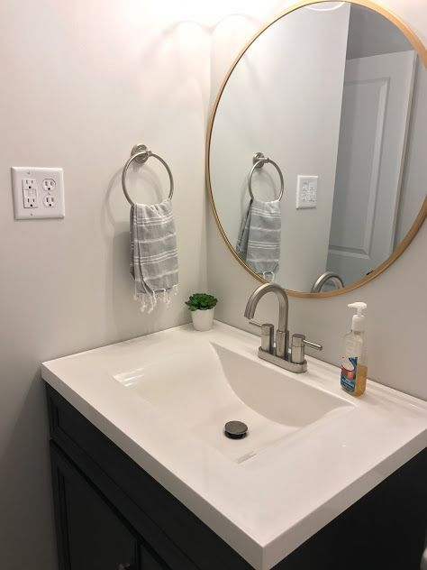 Dani Rose Design Grey Bathroom Turkish Towel Towel Ring Round Gold Target Mirror Diamond Fresh Gold Mirror Bathroom Round Mirror Bathroom Target Mirrors