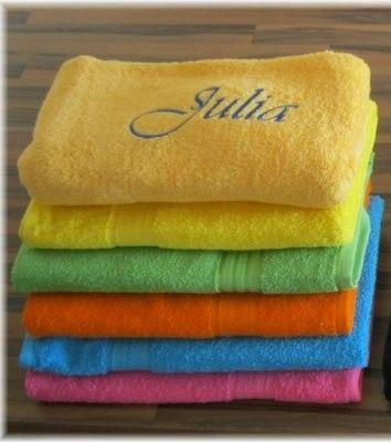 Handtuch Mit Namen Besticken Lassen Handtuch Besticken