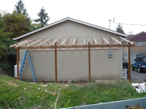 Lean To Carport Build The Garage Journal Board Porch Pinterest Board Barn And Garage Ideas
