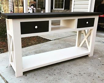 Rustic X Farmhouse Computer Desk Farmhouse Console Table Diy Console Table Sofa Table With Drawers