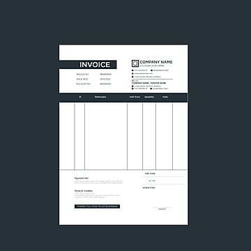 Modern And Professional Black And White Elegant Minimal Business Invoice Template Vector Format In 2021 Invoice Design Invoice Template Modern