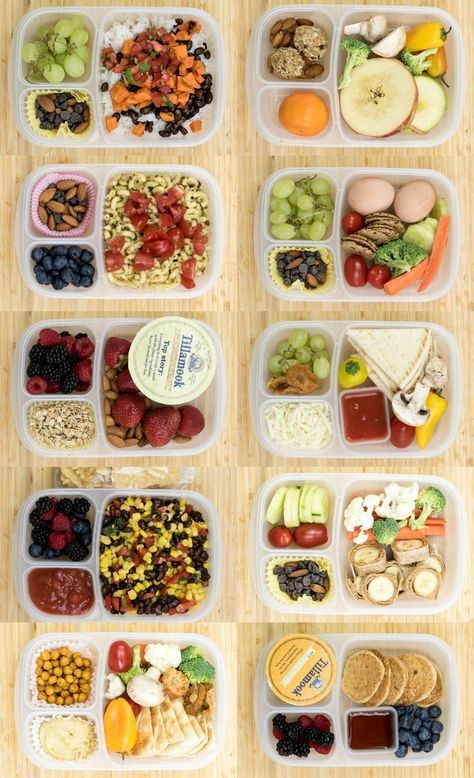 12 Healthy Lunch Box Ideas for Kids or Adults that are simple, wholesome, and meatless - no sandwiches included! These are perfect for back-to-school! ideas 12 Healthy Lunch Box Ideas for Kids or Adults