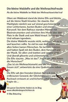 Die Kleine Waldelfe Und Die Weihnachtsfreude Geschichten Fur Kinder Weihnachtsgeschichte Kinder Kleine Weihnachtsgeschichte