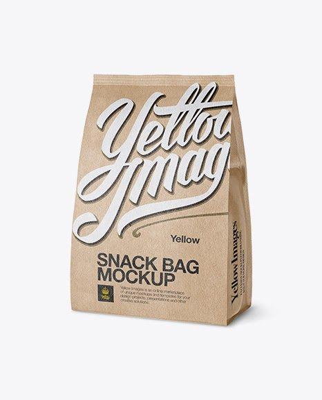 Download Download Psd Mockup 3 4 Bag Bag Mockup Cereal Cereal Bag Food Package Half Side View Half Side Half Turned Kraf Bag Mockup Free Logo Mockup Psd Mockup Free Psd