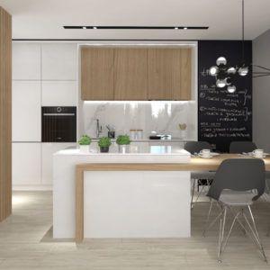 Salon Z Aneksem Kuchennym Biuro Projektowe Dorota Szelagowska Interior Design Kitchen Kitchen Design Modern Kitchen Design