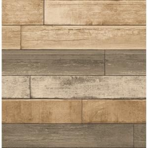 Brewster Barn Board Brown Thin Plank Wallpaper Fd23274 The Home Depot In 2020 Wood Plank Wallpaper Reclaimed Wood Wallpaper Wood Wallpaper