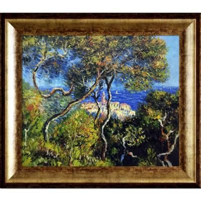 overstockArt Bordighera by Monet with Athenian Gold King Frame