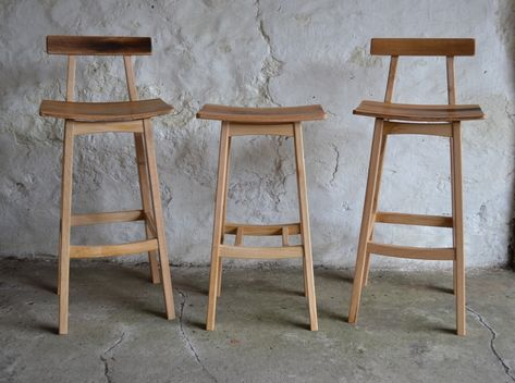 Oak Bar Stool With Whisky Barrel Seat