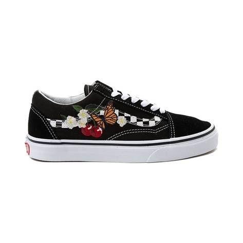 Vans Old Skool Floral Chex Skate Shoe