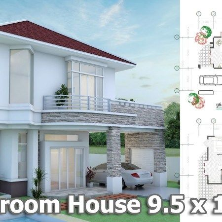2 Bedroom Tiny Home Plan 5x8m Samphoas Plan House Plans Dream House Exterior Modern House