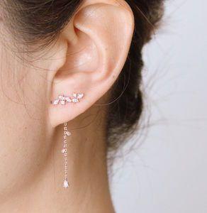 Rose Gold Or Silver Two Way Earrings - earrings